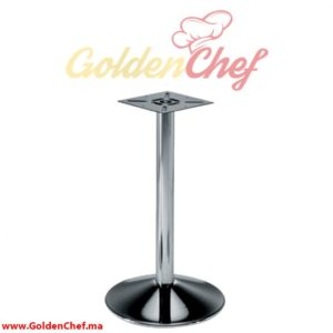 PIED DE TABLE BOMBE CHROME