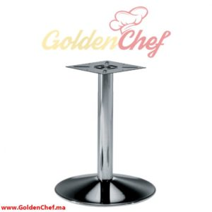 PIED DE TABLE BAS BOMBE TIGE ROND