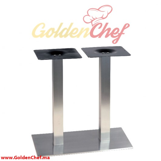 PIED DE TABLE BAS CARRE TIGE CARRE DOUBLE