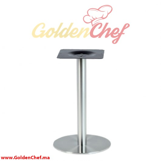 PIED DE TABLE BAS ROND TIGE ROND