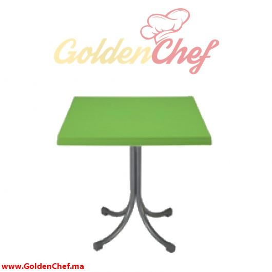 TABLE EN PLASTIQUE CARRE ATLAS Dim : 65 x 65 x 73 cm