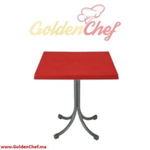 TABLE EN PLASTIQUE CARRE CONFORTIME Dim : 75 x 75 x 73 cm